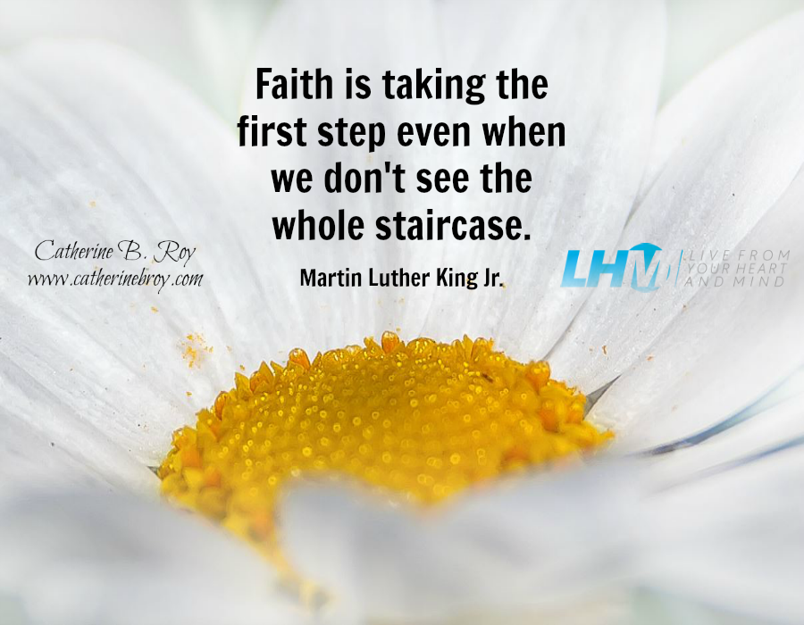Faith is takining the first step
